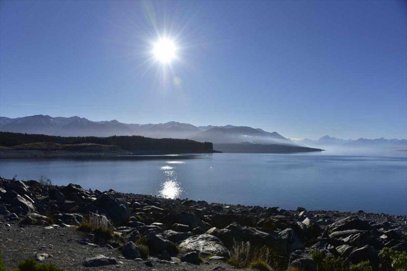 プカキ湖から見える風景