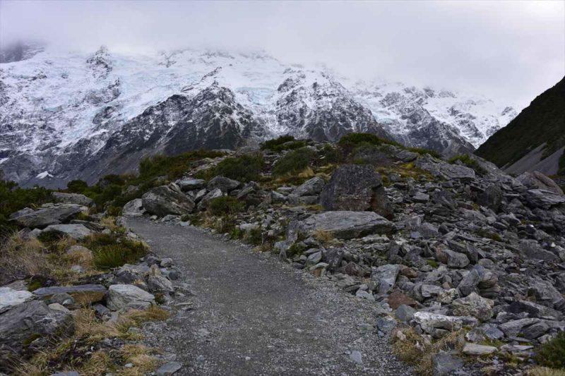 氷河におおわれた山