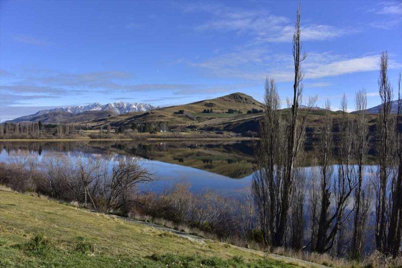 Lake Hayes湖の風景