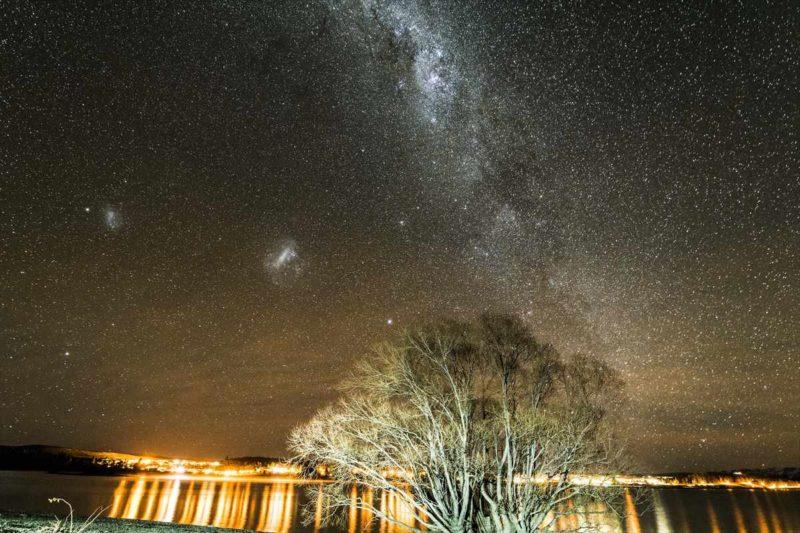 オフロードで行きついた場所で撮影した星空風景