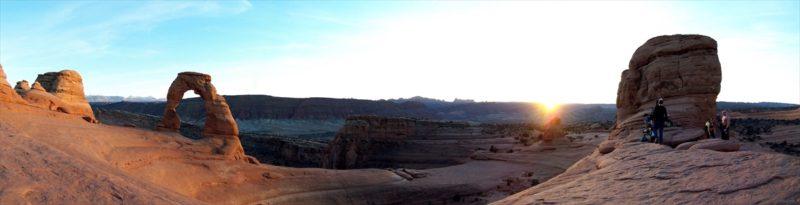 デリケート・アーチのパノラマ風景