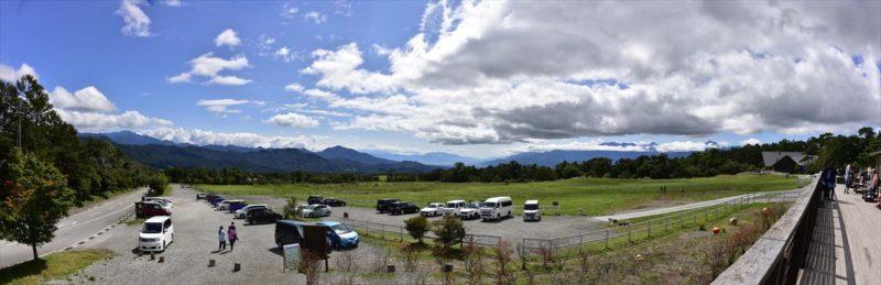 清里高原のパノラマ