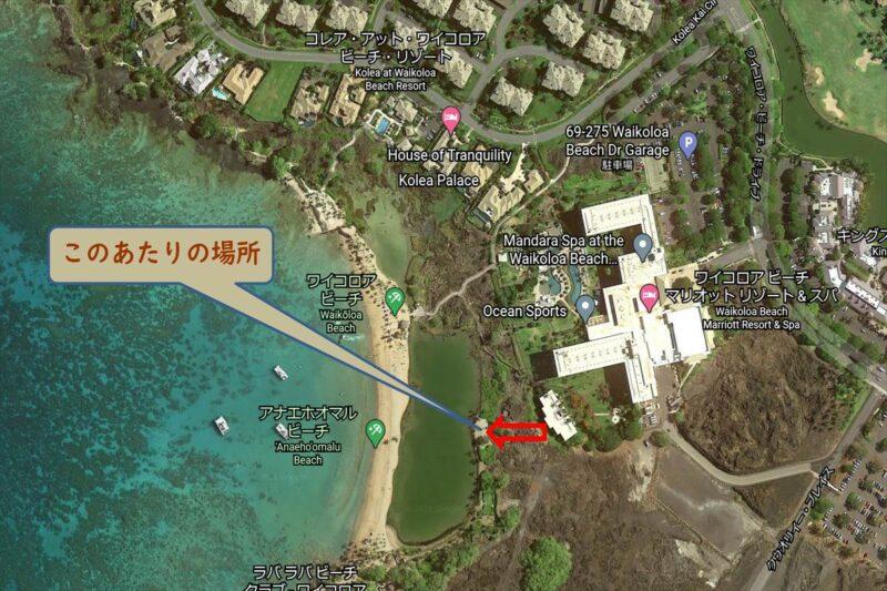 ワイコロアビーチの地図