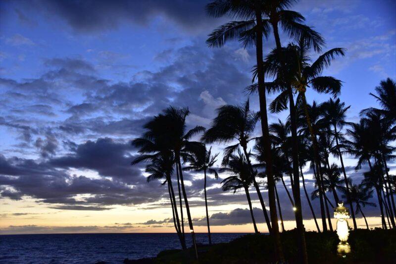日没後の風景