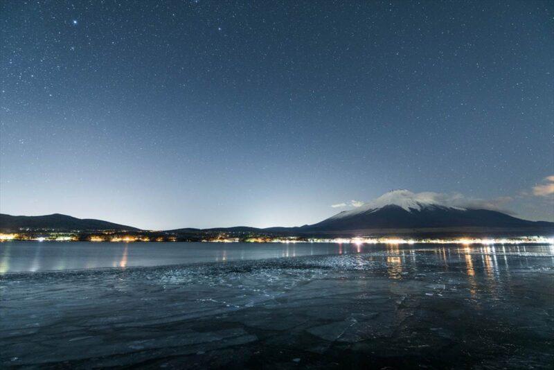 長池親水公園から見た星空
